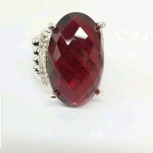 Sale David yurman garnet oval ring athuntic